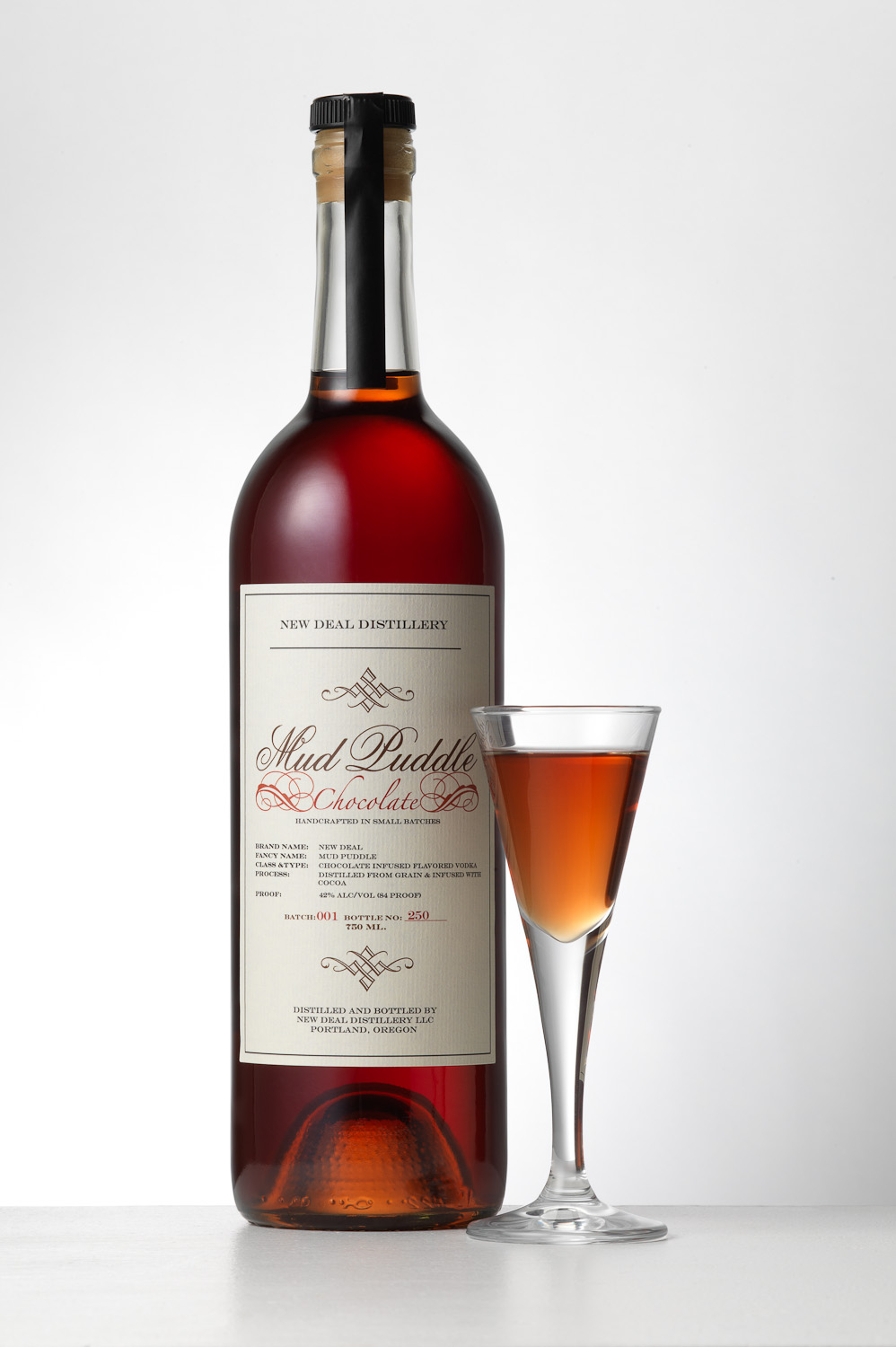 New Deal Distilling Mud Puddle chocolate vodka