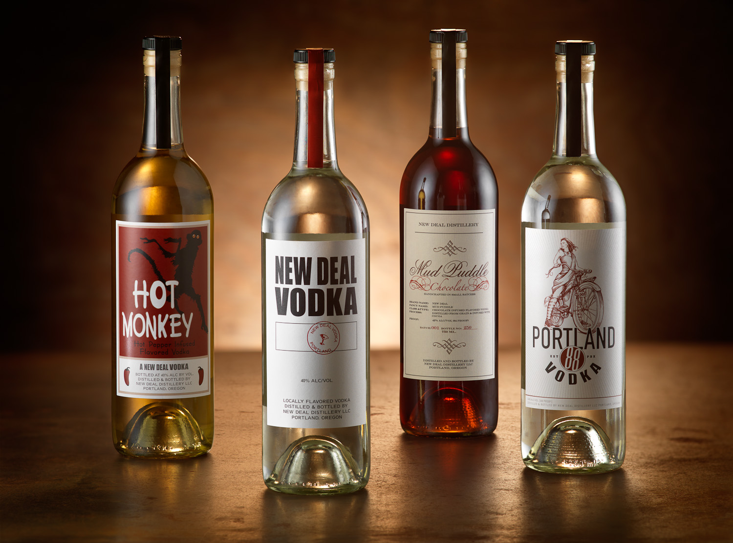 The New Deal Distilling product line