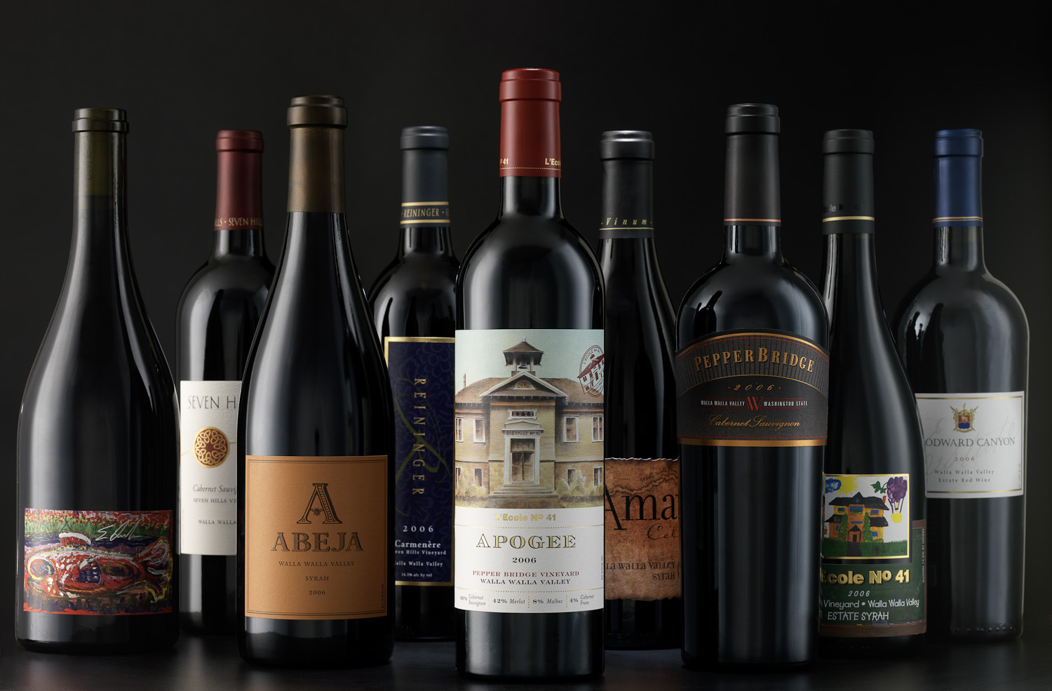 A group photo of Walla Walla wines