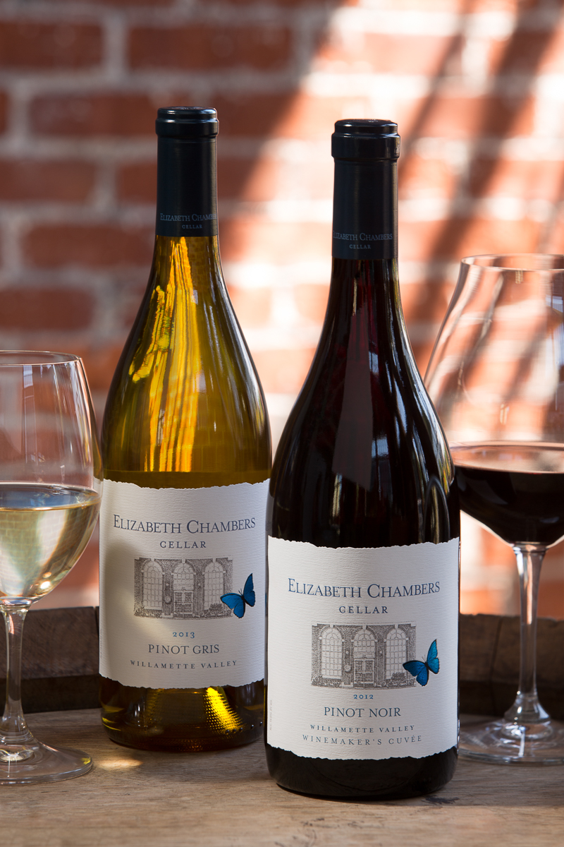 Elizabeth Chambers Pinot Noir and Pinot Gris