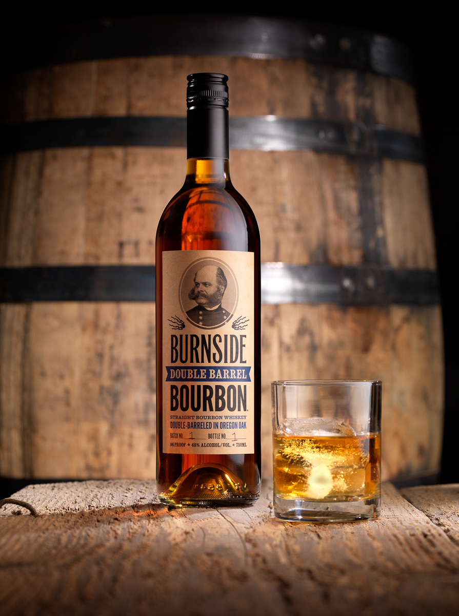 Burnside bourbon bottle