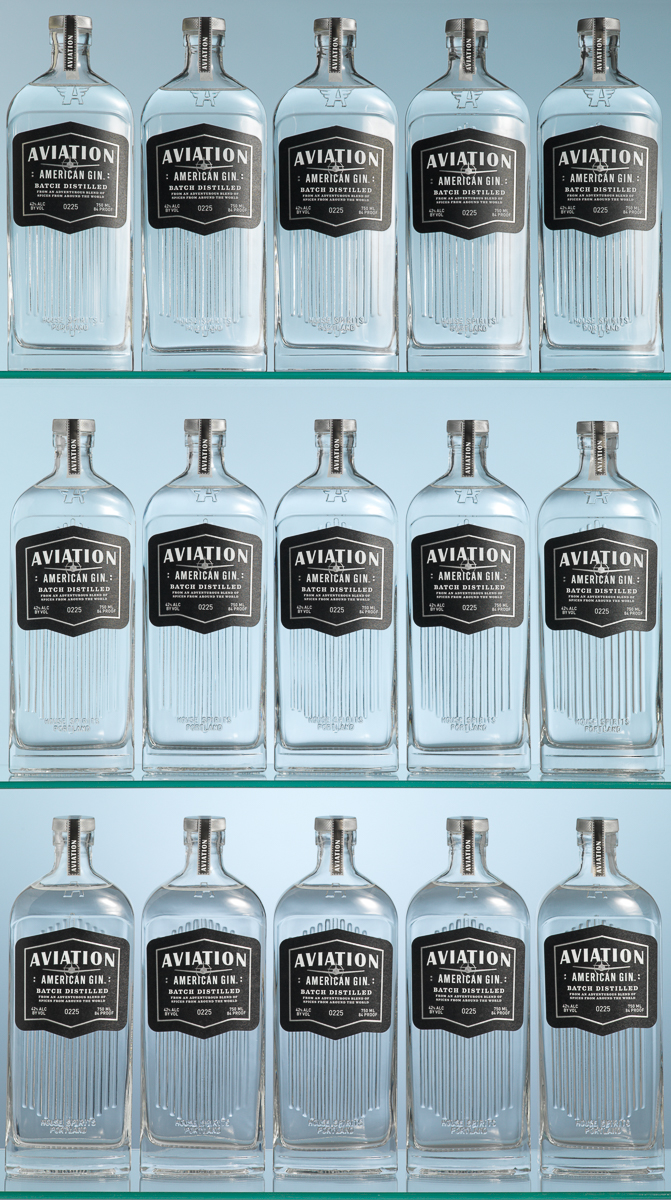 Avaition Gin bottles
